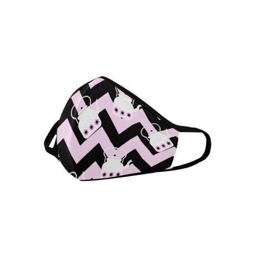 pink teapot chevron Mouth Mask