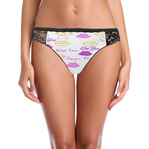 Kiss You Lace Panty Women's Lace Panty (Model L41)