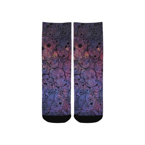 Cosmic Sugar Skulls Custom Socks for Kids