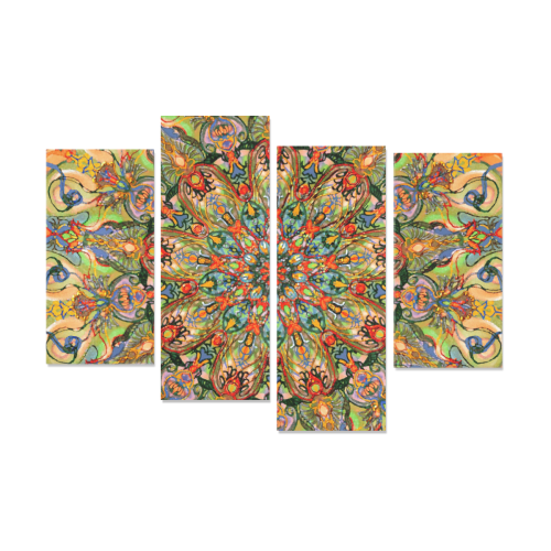 mandala 7 Canvas Wall Art Y (4 pieces)
