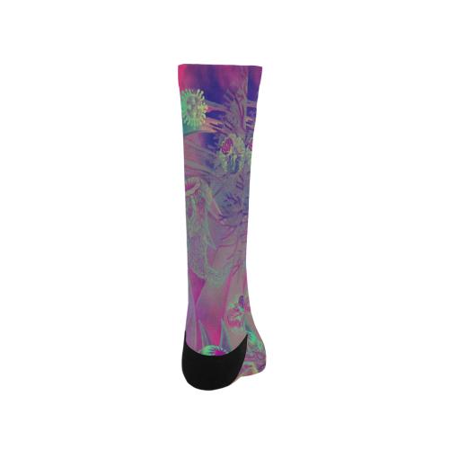 flowers #flowers #pattern Trouser Socks (For Men)