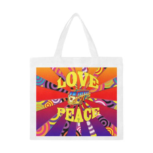 Boho Love and Peace Canvas Tote Bag/Large (Model 1702)