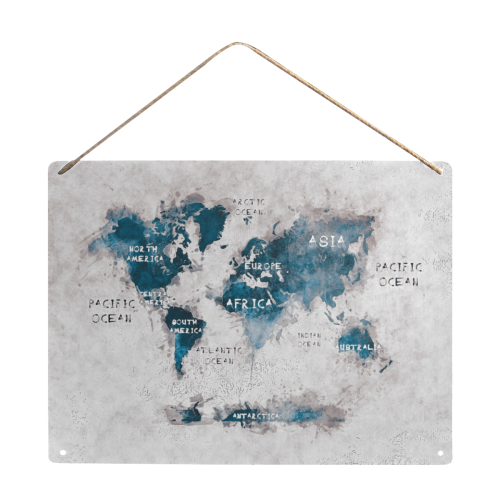 "world map #map #worldmap Metal Tin Sign 16""x12"""
