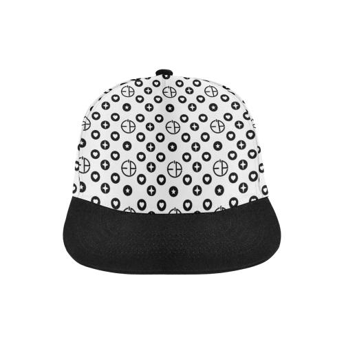 Ev's Print Designer High Fashion His & Her 6 Panel Hat All Over Print Snapback Hat D