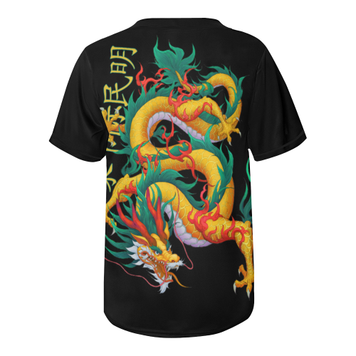Dragon Beast All Over Print Baseball Jersey for Men (Model T50)