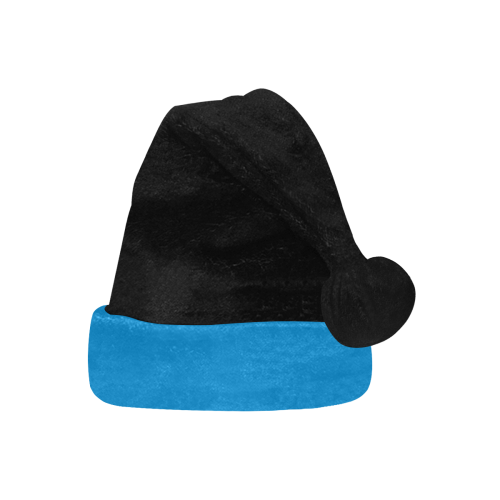 Team Colors Black and Panther Blue Santa Hat