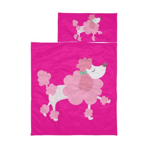 Pretty Pink Poodle Hot Pink Kids' Sleeping Bag