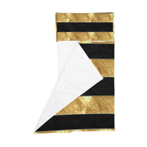 Black Gold Stripes Kids' Sleeping Bag