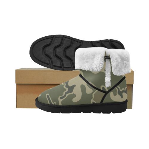 US m1948 ERDL camouflage Design boots winter Unisex Single Button Snow Boots (Model 051)