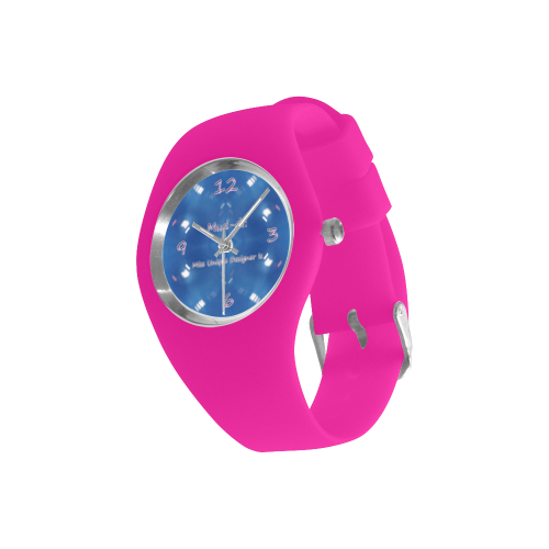 Jersey Pink Simple Style Candy Silicone Watch (Model 315)