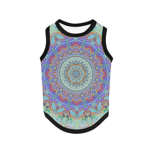 mandala paon All Over Print Pet Tank Top