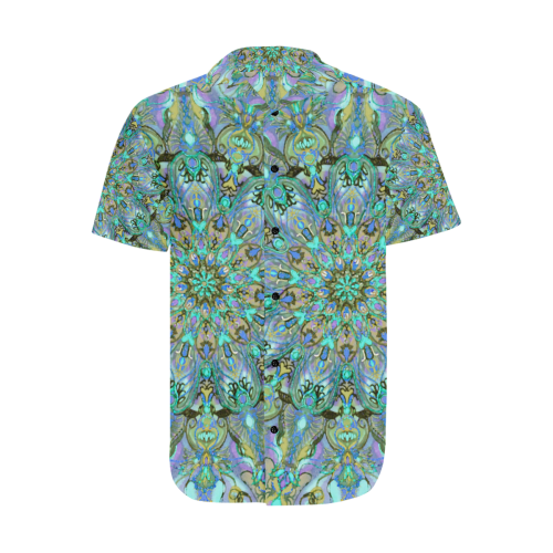 mandala 2 Men's Short Sleeve Shirt with Lapel Collar (Model T54)