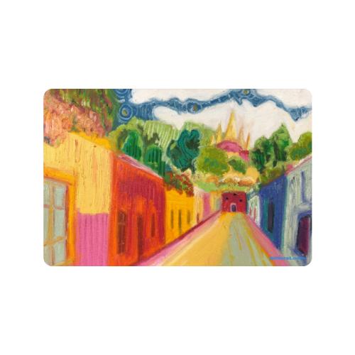 """La Parroquia de San Miguel Doormat 24""""x16"""""""