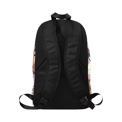 Leopard Scream Fabric Backpack for Adult (Model 1659)