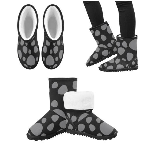 black leopard skin Design boots Custom High Top Kid's Snow Boots (Model 050)