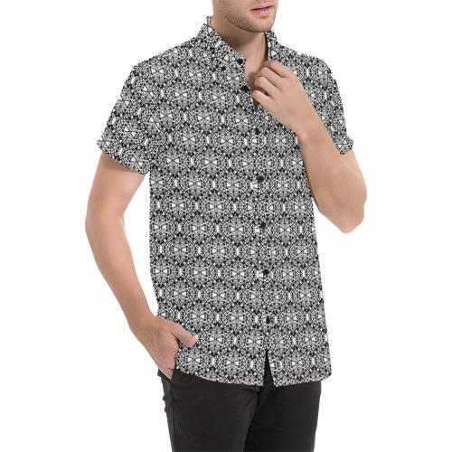 Model #26c  Men's All Over Print Short Sleeve Shirt (Model T53)