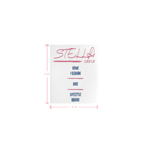 Stella Saksa Logo Private Brand Tag on Tops (4cm X 5cm)