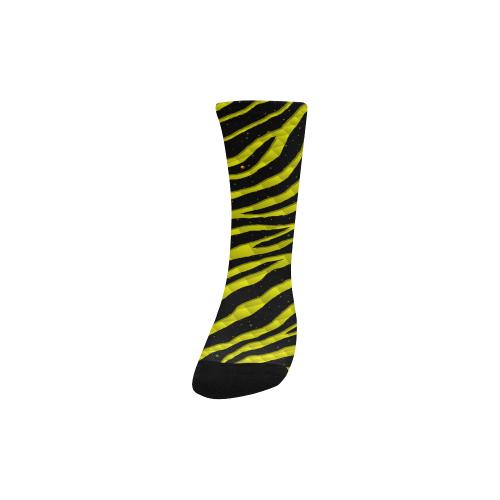 Ripped SpaceTime Stripes - Yellow Kids' Custom Socks
