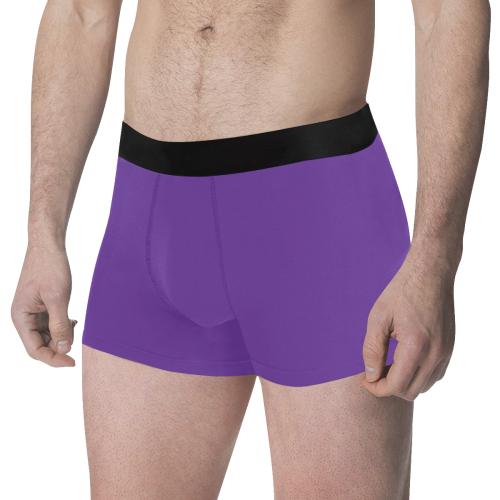 color rebecca purple Men's All Over Print Boxer Briefs (Model L34)