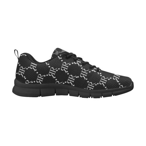 Rivera Royale Bevel on Black Men's Breathable Running Shoes/Large (Model 055)