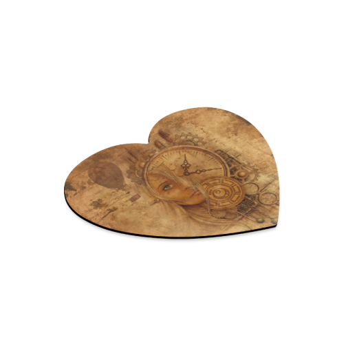 A Time Travel Of STEAMPUNK 1 Heart-shaped Mousepad