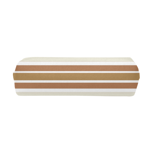 Gold Sienna Stripes Pencil Pouch/Small (Model 1681)
