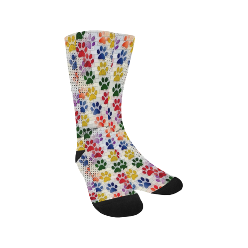 Paws Popart by Nico Bielow Trouser Socks (For Men)