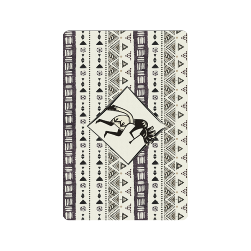 "Kokopelli - Native American Pattern I Doormat 24""x16"""