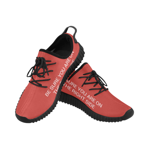 Unisex Shoes of Protest ('BE SURE YOU ARE ON THE RIGHT SIDE') Grus Men's Breathable Woven Running Shoes (Model 022)