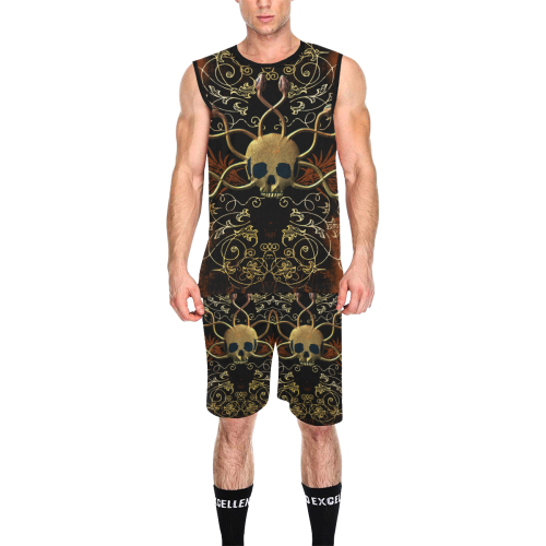 Amazing skull All Over Print Basketball Uniform