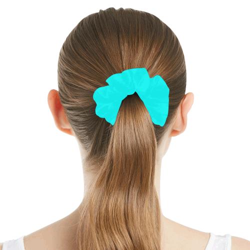 color aqua / cyan All Over Print Hair Scrunchie