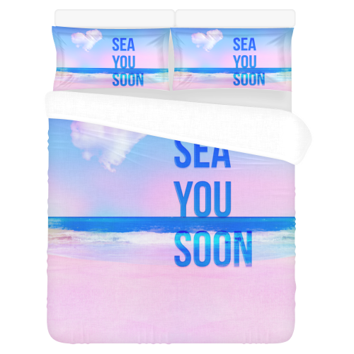 sea you soon 3-Piece Bedding Set