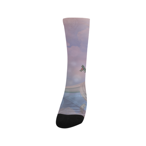 The moon with butterflies Trouser Socks (For Men)