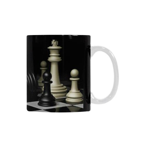 Ceramic Mug Chess Game Buddha Quote Custom White Mug (11oz)