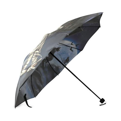 Halloween Umbrella Foldable Umbrella (Model U01)