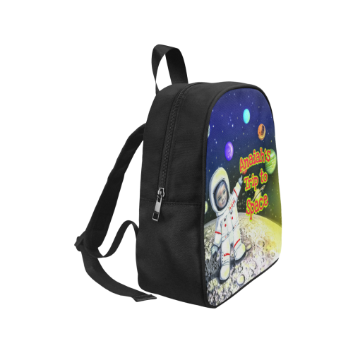 Anaiah Space Book Bag Fabric School Backpack (Model 1682) (Small)