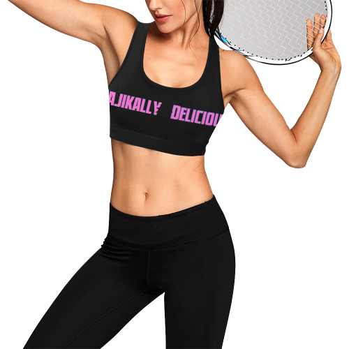 Majikally Delicious™ Single Women's All Over Print Sports Bra (Model T52)