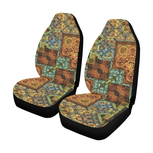 Patchwork Car Seat Covers (Set of 2)
