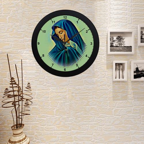 Mother Mary Circular Plastic Wall clock