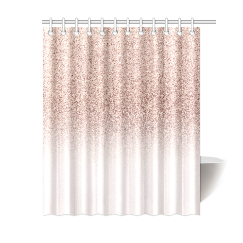 Rose Gold Faux Glitter Pink Ombre Modern Elegant Trendy Chic Girly