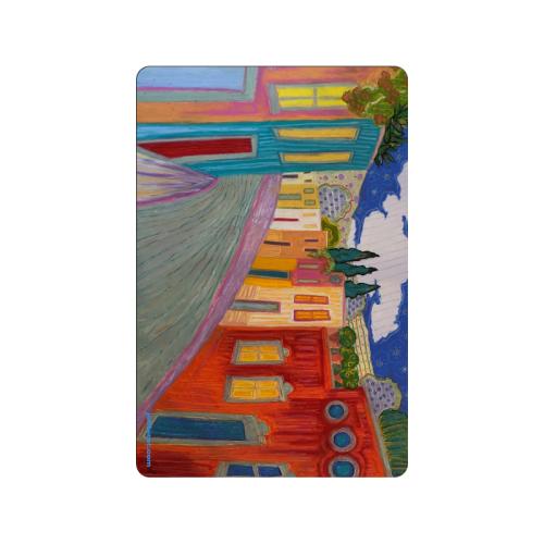 "Jacaranda Time in San Miguel Doormat 24""x16"""