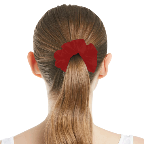 color dark red All Over Print Hair Scrunchie