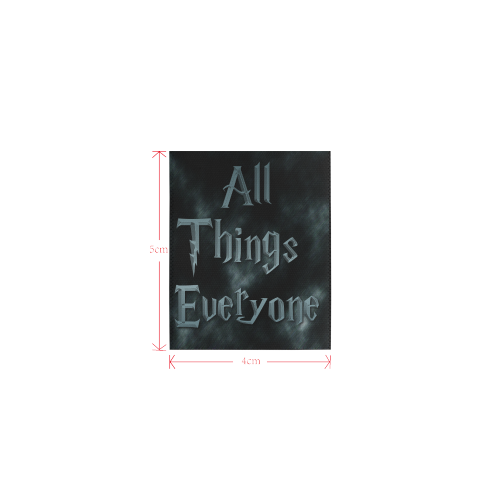 All Thigs Everyone Logo Private Brand Tag on Tops (4cm X 5cm)