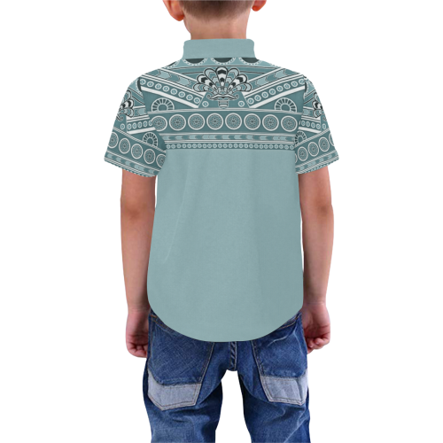 Assyrian Folk Art Boys' All Over Print Short Sleeve Shirt (Model T59)