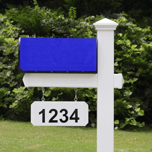 color medium blue Mailbox Cover