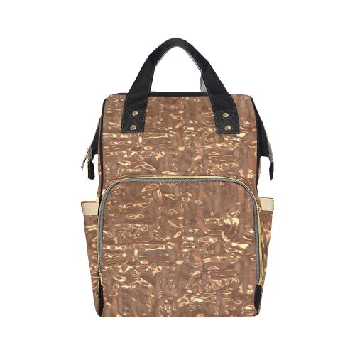 Metallic Copper Crush Multi-Function Diaper Backpack (Model 1688)