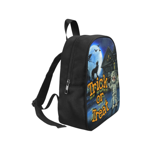 Trick or Treat Back Pack Fabric School Backpack (Model 1682) (Small)