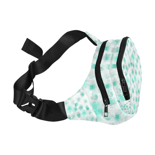 watercolor flowers 9 Fanny Pack/Small (Model 1677)