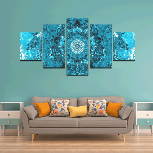 light and water 2-14 Canvas Wall Art Z (5 pieces)