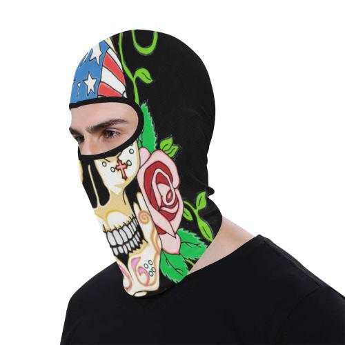 Biker Sugar Skull All Over Print Balaclava